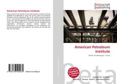 Bookcover of American Petroleum Institute