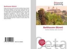 Portada del libro de Barkhausen (Büren)