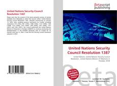 Bookcover of United Nations Security Council Resolution 1387