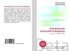 Couverture de Amerikanische Universität in Bulgarien