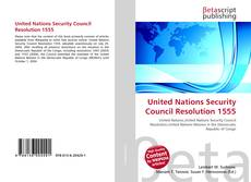 Bookcover of United Nations Security Council Resolution 1555