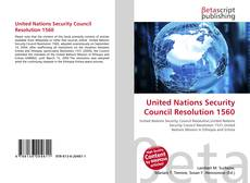 Bookcover of United Nations Security Council Resolution 1560