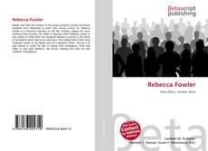 Rebecca Fowler kitap kapağı