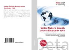Bookcover of United Nations Security Council Resolution 1563