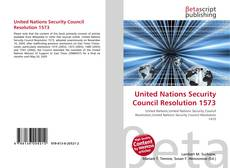 Bookcover of United Nations Security Council Resolution 1573
