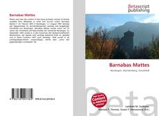 Bookcover of Barnabas Mattes