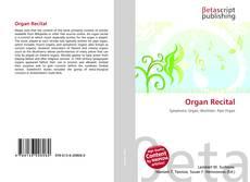 Обложка Organ Recital