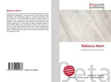 Bookcover of Rebecca Horn