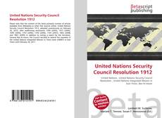 Bookcover of United Nations Security Council Resolution 1912