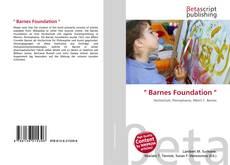 """Buchcover von """" Barnes Foundation """""""