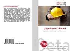 Capa do livro de Organisation Climate