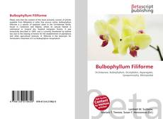 Bookcover of Bulbophyllum Filiforme