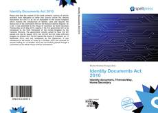 Bookcover of Identity Documents Act 2010