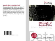 Couverture de Bibliography of Daredevil Titles