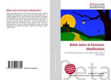 Buchcover von Bible John-A Forensic Meditation