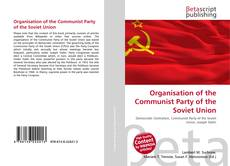 Bookcover of Organisation of the Communist Party of the Soviet Union