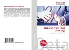 Bookcover of National Front (East Germany)