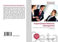 Organizational Behavior Management的封面