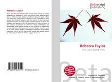 Bookcover of Rebecca Taylor