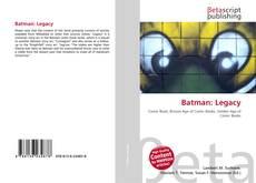 Capa do livro de Batman: Legacy