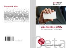 Bookcover of Organizational Safety