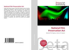 Bookcover of National Film Preservation Act