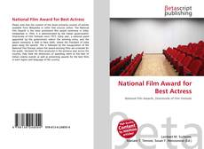 Bookcover of National Film Award for Best Actress