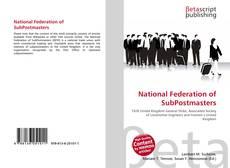 Capa do livro de National Federation of SubPostmasters