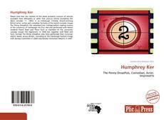 Обложка Humphrey Ker