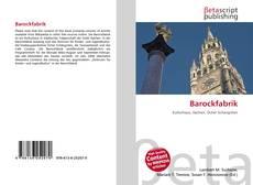 Portada del libro de Barockfabrik