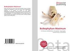 Обложка Bulbophyllum Maximum