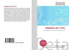 Buchcover von Rebellion Act 1572