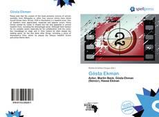 Bookcover of Gösta Ekman