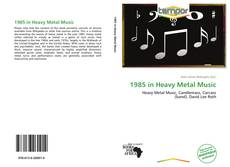 Capa do livro de 1985 in Heavy Metal Music