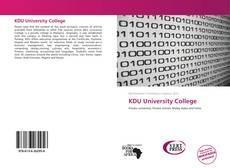 Buchcover von KDU University College