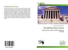 Buchcover von Disability Hate Crime