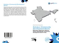 Buchcover von Kotulpur (Community Development Block)