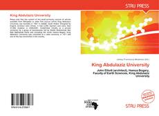 Bookcover of King Abdulaziz University