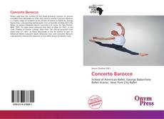 Capa do livro de Concerto Barocco
