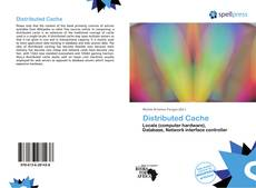Bookcover of Distributed Cache