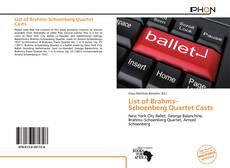 Borítókép a  List of Brahms–Schoenberg Quartet Casts - hoz