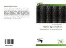 Capa do livro de Formal Specification