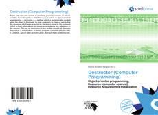 Copertina di Destructor (Computer Programming)