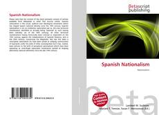 Capa do livro de Spanish Nationalism
