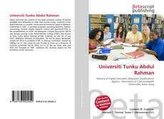 Bookcover of Universiti Tunku Abdul Rahman