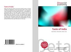 Bookcover of Taste of India