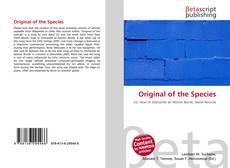 Bookcover of Original of the Species