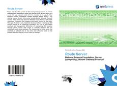 Bookcover of Route Server