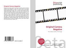 Bookcover of Original Camera Negative