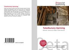 Buchcover von Tatarbunary Uprising